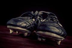 足球鞋子 免版税图库摄影