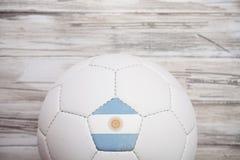 足球:阿根廷国际Compe的足球背景 库存照片