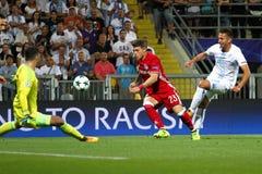 足球-欧洲联赛冠军杯 免版税库存图片