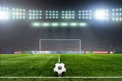 足球bal.football, 在体育场 免版税库存图片