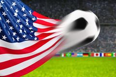 足球U S A 免版税图库摄影