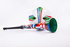 足球vuvuzela 免版税库存图片