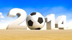 足球WM 2014年 库存图片