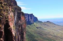 足迹下来从高原Roraima 免版税库存图片