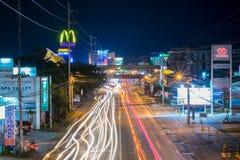 足迹光在达沃市 免版税库存图片