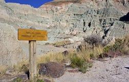 足迹标志蓝色水池俄勒冈的末端 图库摄影