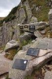 足迹的符号公墓在Karkonosze山 免版税图库摄影