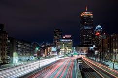 足迹通过波士顿 库存图片