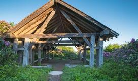 足迹风雨棚崎岖的庭院远足北卡罗来纳 免版税库存图片