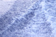 水足迹 图库摄影