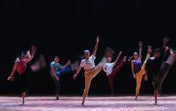跃迁对来到去现代舞蹈 免版税库存照片
