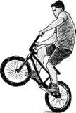 活跃骑自行车者 库存图片