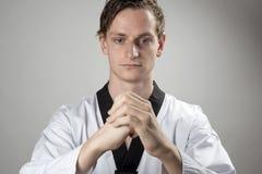 跆拳道冠军准备 免版税库存图片