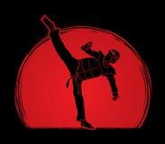 跆拳道高反撞力行动用卫兵设备 库存照片