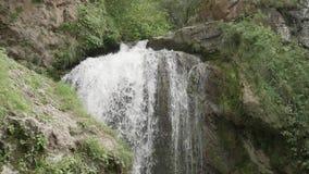 跌倒在蜂蜜瀑布的水巨大的小河复杂 股票录像