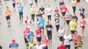 跑在半马拉松事件的人们 股票录像