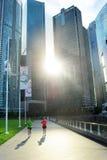 跑在新加坡 免版税库存图片