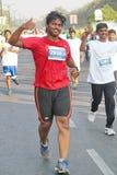 跑在海得拉巴10K的人们跑事件,印度 库存图片