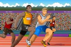 跑在竞争中的人们 免版税库存照片