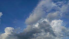跑在雨季的积云 影视素材