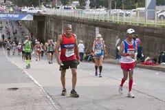 跑在Marathon In南非同志的竞争者 图库摄影