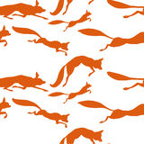 跑无缝的传染媒介样式的狐狸 库存图片