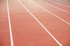 跑步与一个软的结束和白色标号 免版税库存图片