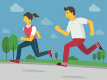 跑步健康的 免版税图库摄影