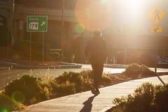 跑步在塞多纳市,亚利桑那的早晨 免版税库存图片