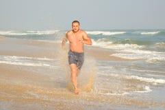 跑步在水 免版税库存照片