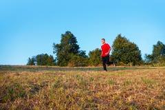 跑步的人室外年轻人 图库摄影