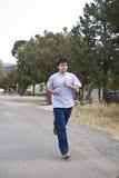 跑步的人年轻人 免版税库存图片