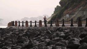 跑步的人民,金门大桥,旧金山(城市) 影视素材