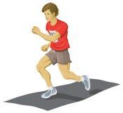 跑步的人 库存图片