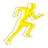 跑步的人 库存例证