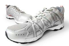 跑步的人s鞋子 图库摄影