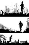 跑步的前景 免版税图库摄影