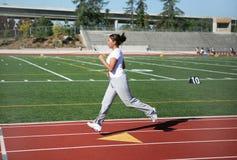 跑步的妇女 库存照片