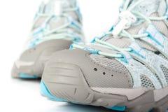 跑步的对鞋子 库存图片