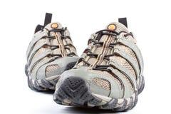 跑步的对鞋子 图库摄影