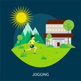 跑步的概念设计 库存图片