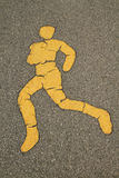 跑步的符号 免版税库存照片