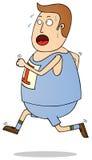 跑步的肥胖人 免版税库存图片