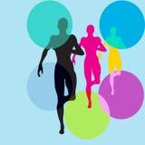 跑步,跑,健康 免版税库存图片