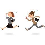 跑的女实业家 向量例证