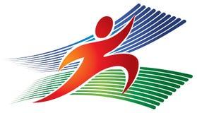 跑的跑步的商标 免版税库存照片