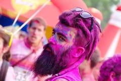 跑的颜色-意大利 免版税库存照片