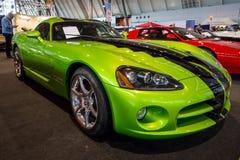 跑车推托蛇蝎SRT-10小轿车, 2010年 免版税库存图片