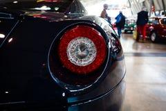 跑车法拉利599 GTB Fiorano F1后闸光, 2008年 免版税库存照片