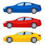 跑车用不同的颜色 皇族释放例证
